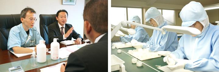 各部署の担当者がチームとなって、化粧品のコンセプトと容器の品質を守ります
